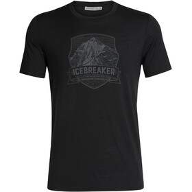 Icebreaker Tech Lite Everest Crest SS Crewe Shirt Herre Black